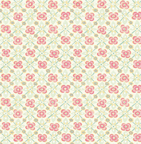 Free Spirit Pink Floral Wallpaper