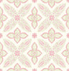 Off Beat Ethnic Pink Geometric Floral Wallpaper