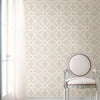 Off Beat Ethnic Grey Geometric Floral Wallpaper