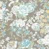 Ainsley Grey Boho Floral Wallpaper