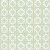 Geo Green Quatrefoil Wallpaper