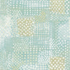 Flower Power Turquoise Patchwork Wallpaper