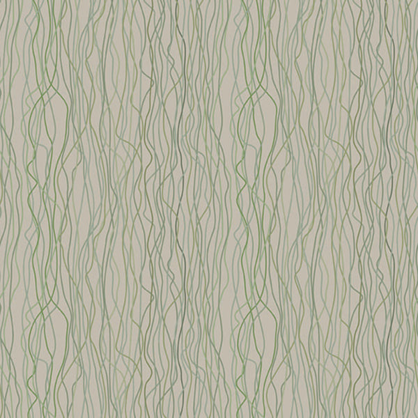 Vertical Hanging Vines In Green Tones On A Beige Wood Grain Background. 10196, Poppies Stem Day