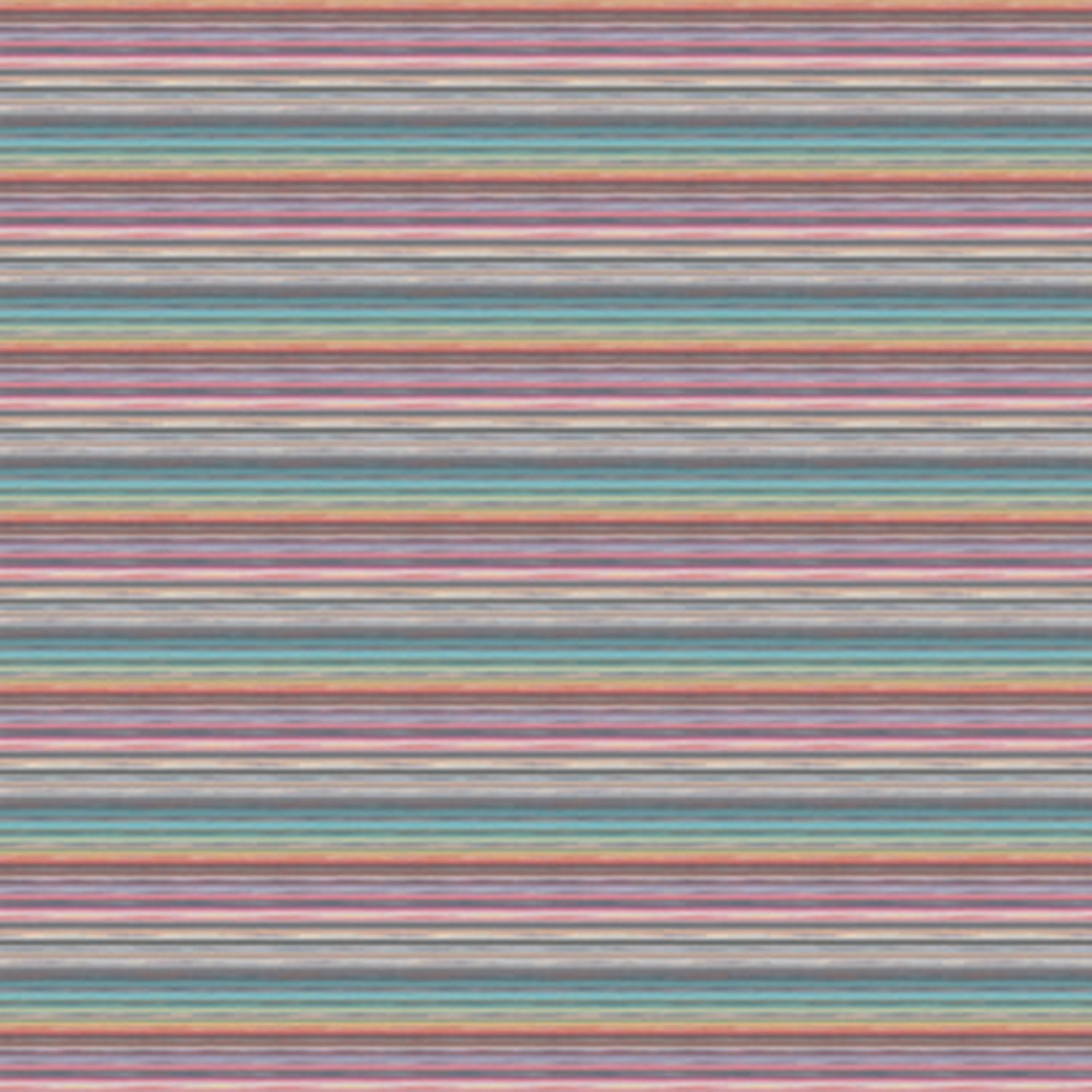 Textured Horizontal Stripe Print With Light Blues, Greens, Pinks, Purples, Browns And Greys. 10198, Riga Multicolour Orizzontale