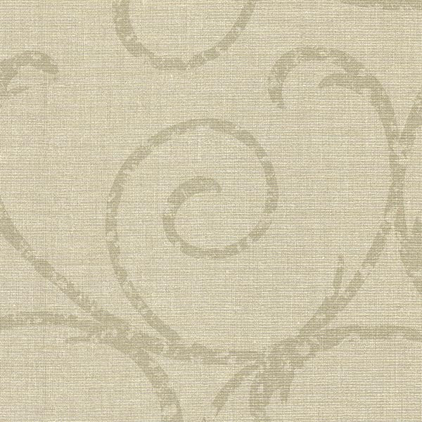 Bates Beige Textured Scroll Wallpaper
