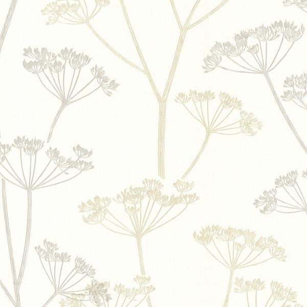 Albury Beige Brasilia Flower Wallpaper