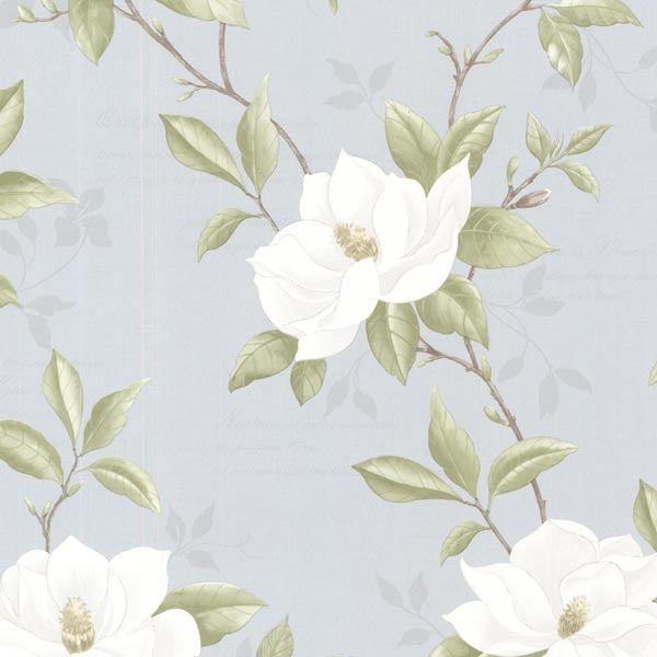 Cressida Blue Magnolia Trail Wallpaper