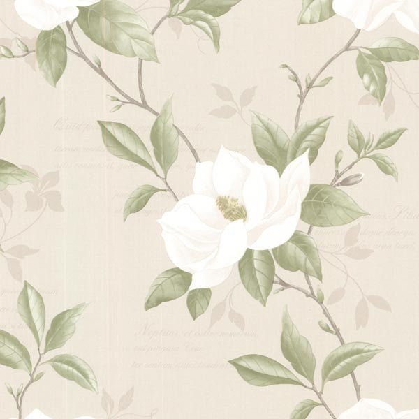 Cressida Ivory Magnolia Trail Wallpaper