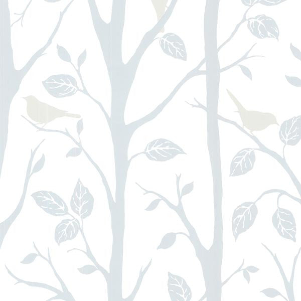 Corwin Blue Bird Branches Wallpaper