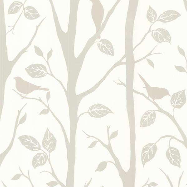 Corwin Grey Bird Branches Wallpaper