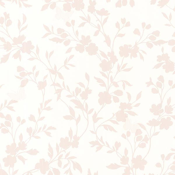 Layla Rose Floral Trail Silhouette Wallpaper