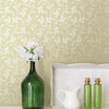 Cynthia Light Green Tonal Leaf Trail Wallpaper