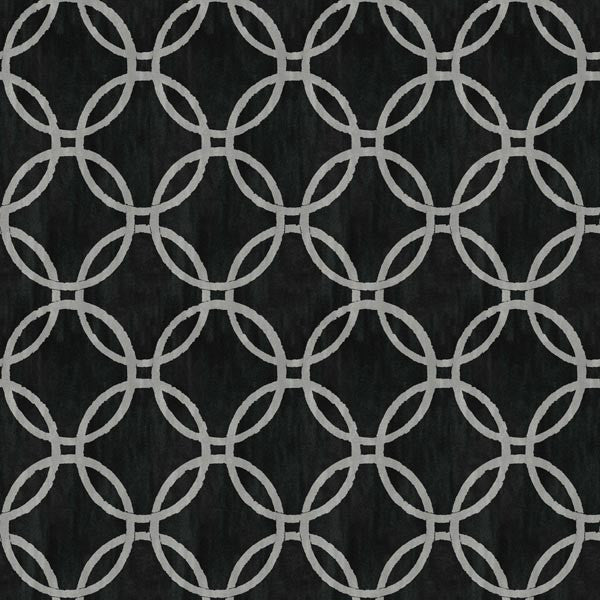 Eaton Black Geometric Wallpaper