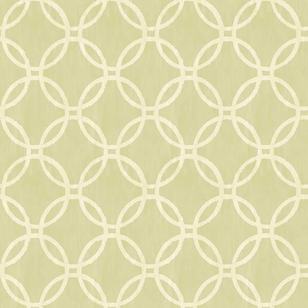 Eaton Light Green Geometric Wallpaper