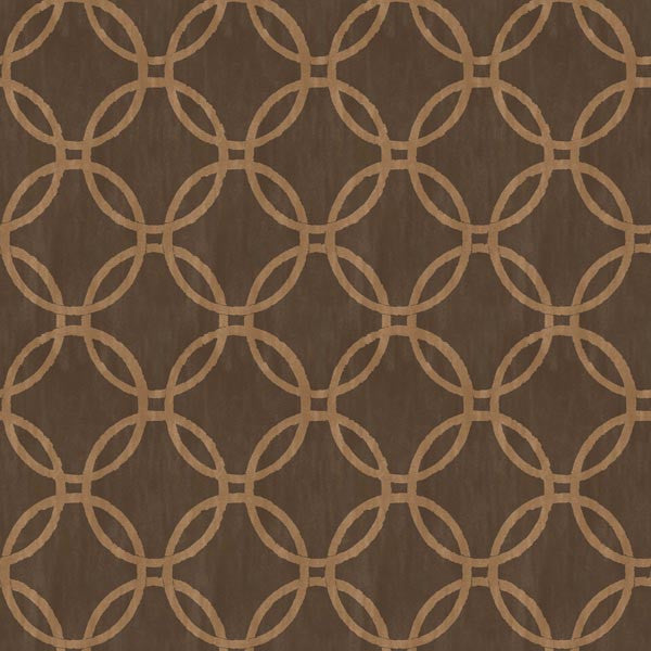 Eaton Espresso Geometric Wallpaper