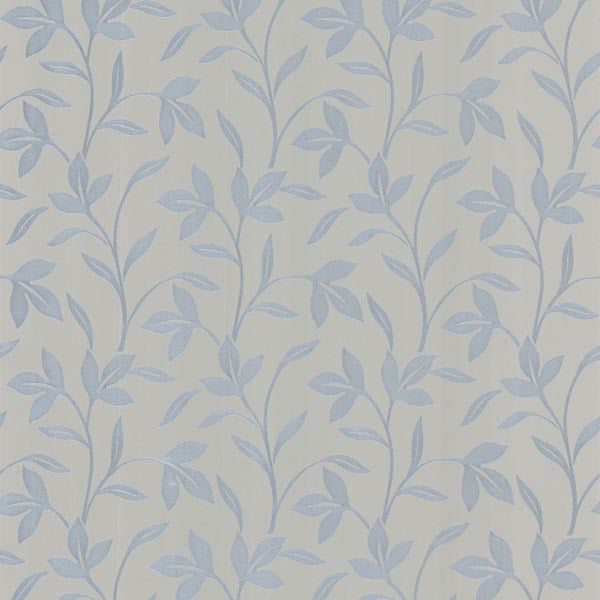 Cynthia Silver Tonal Leaf Trail Wallpaper