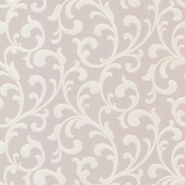 Catasse Grey Scroll Wallpaper