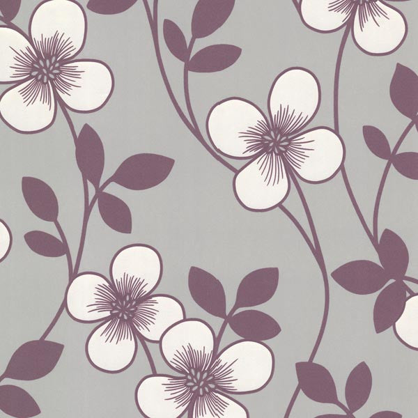 Freud Purple Blossom Trail Wallpaper