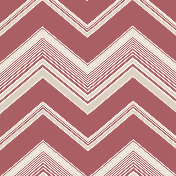 Bearden Pink Zig Zag Wallpaper