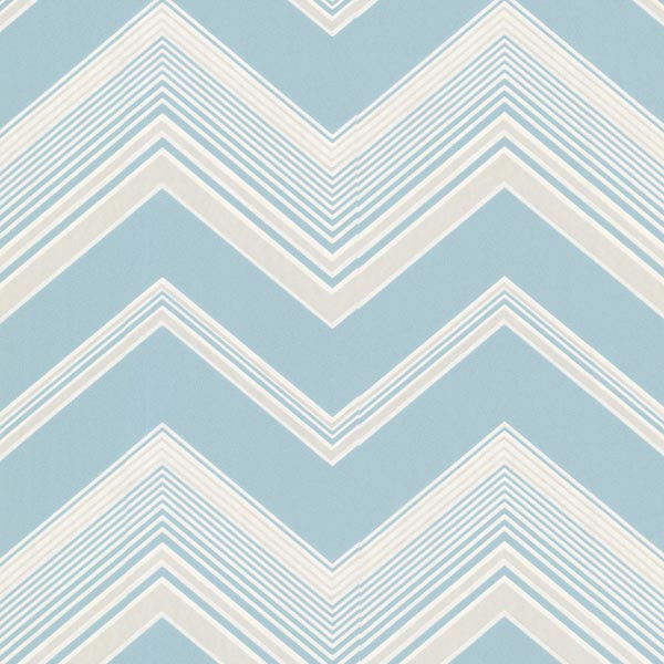 Bearden Light Blue Zig Zag Wallpaper