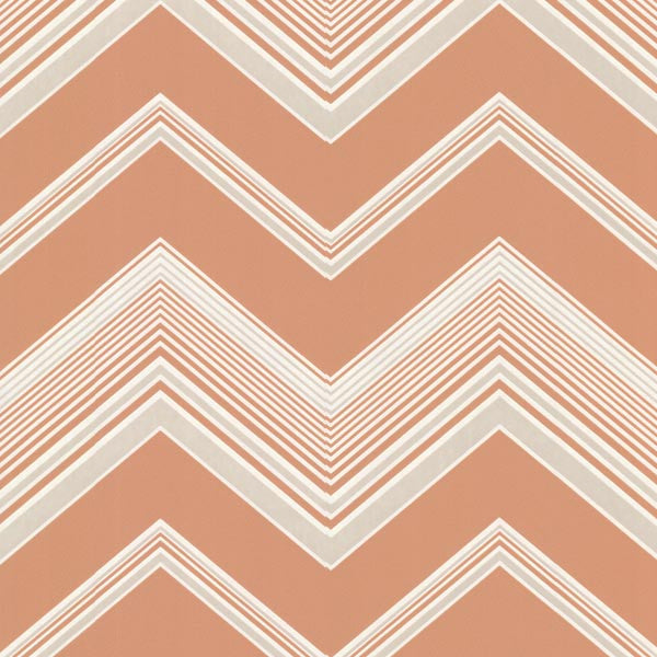 Bearden Orange Zig Zag Wallpaper