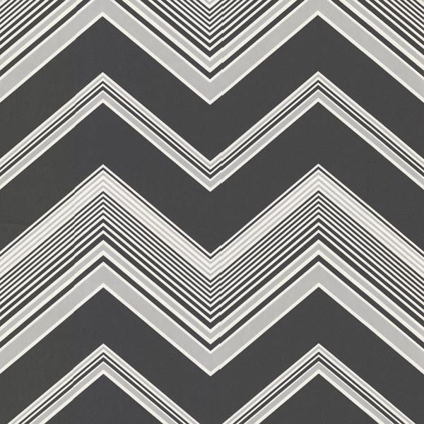 Bearden Black Zig Zag Wallpaper