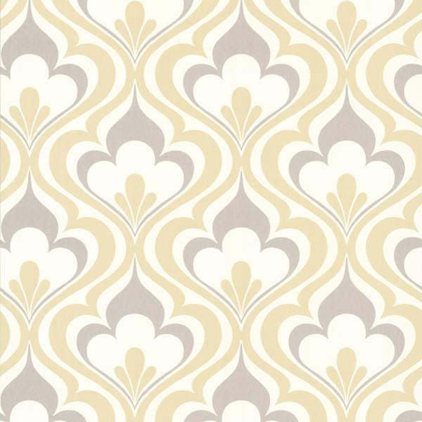 Lola Yellow Ogee Bargello Wallpaper