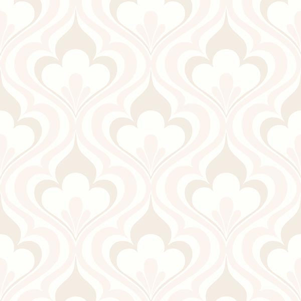 Lola Beige Ogee Bargello Wallpaper