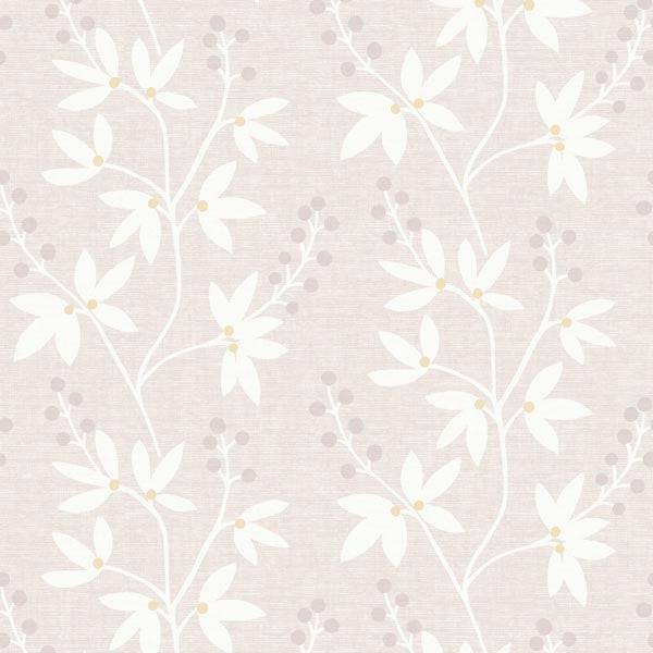 Currant Beige Botanical Trail Wallpaper
