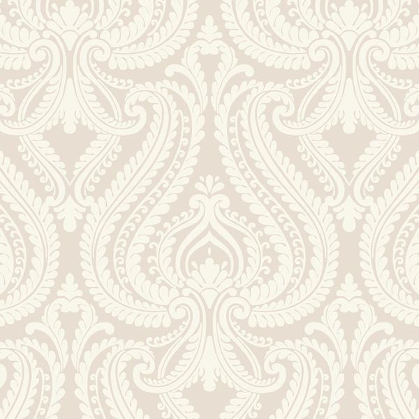 Imperial Grey Modern Damask Wallpaper