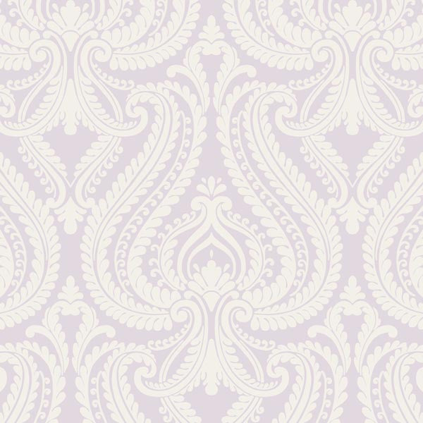 Imperial Lavender Modern Damask Wallpaper