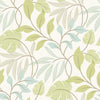 Eden Green Modern Leaf Trail Wallpaper
