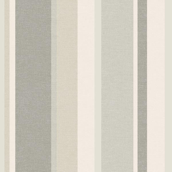 Raya Beige Linen Stripe Wallpaper