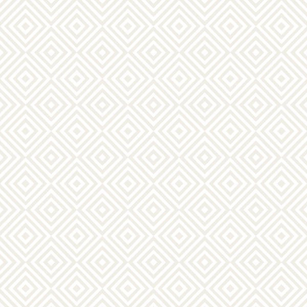 Metropolitan Cream Geometric Diamond Wallpaper