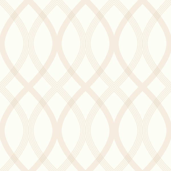 Contour Beige Geometric Lattice Wallpaper