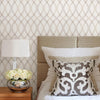 Contour Grey Geometric Lattice Wallpaper
