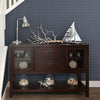 Meridian Navy Nautical Plaid Wallpaper