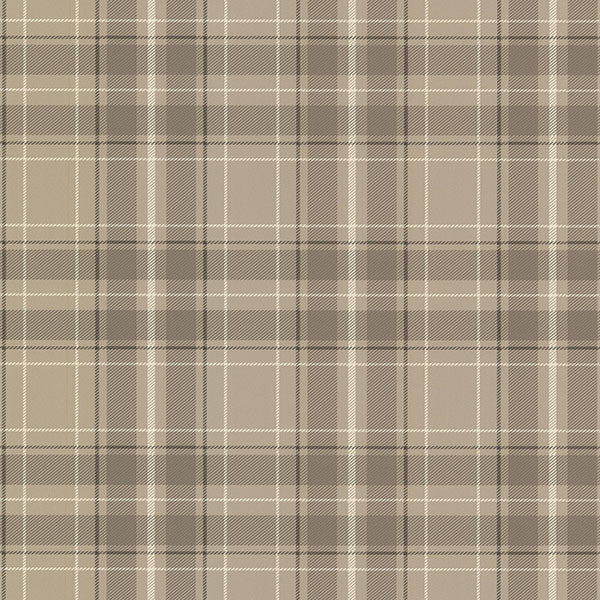 Caledonia Grey Plaid Wallpaper