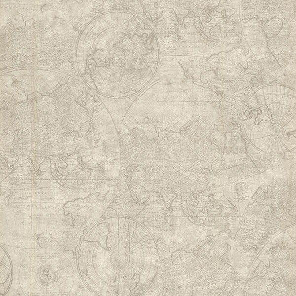 Cartography Fog Vintage World Map Wallpaper