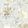 Juliana Light Blue Vintage Floral Wallpaper