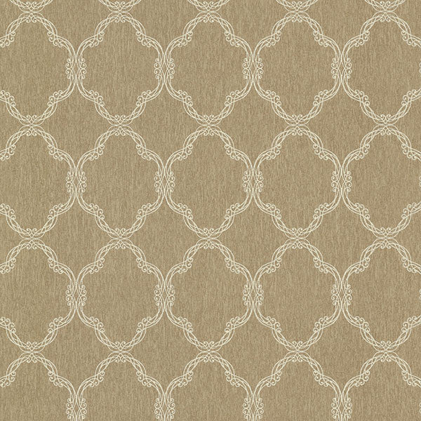 Daniela Bronze Filigree Trellis Wallpaper