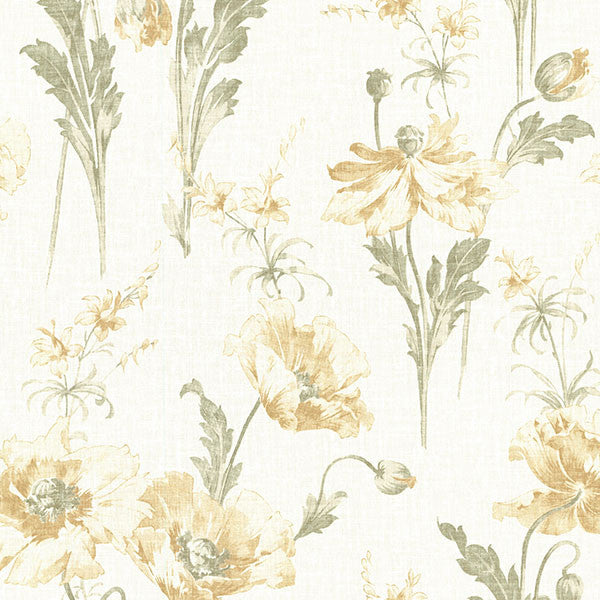 Joliet Buttercup Floral Wallpaper