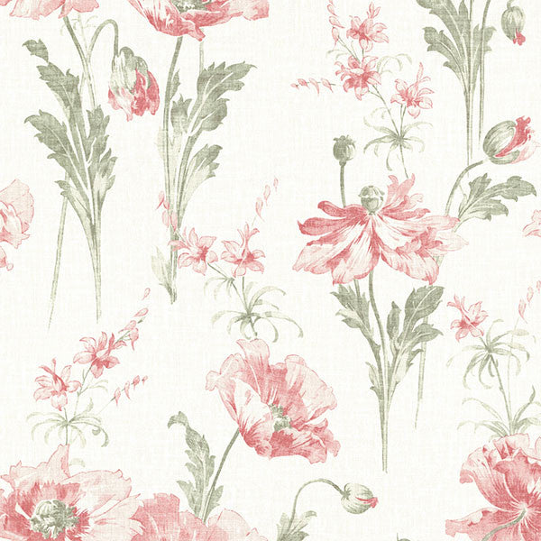 Joliet Rose Floral Wallpaper