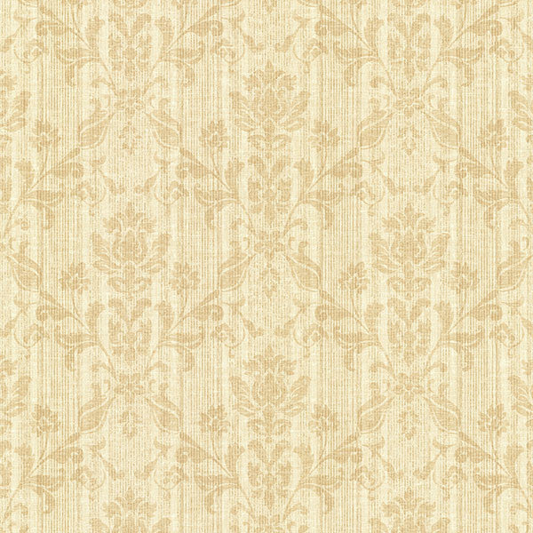 Jovina Buttercup Tonal Damask Wallpaper