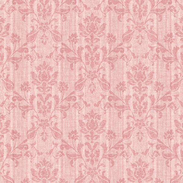 Jovina Rose Tonal Damask Wallpaper