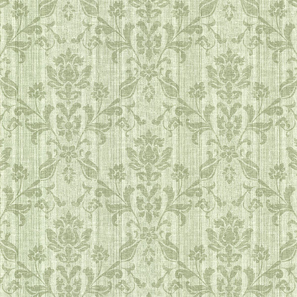 Jovina Sage Tonal Damask Wallpaper