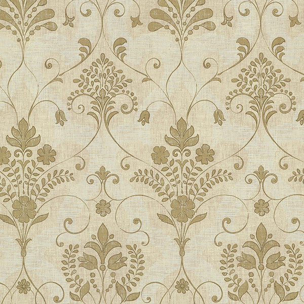 Andalusia Gold Damask Wallpaper