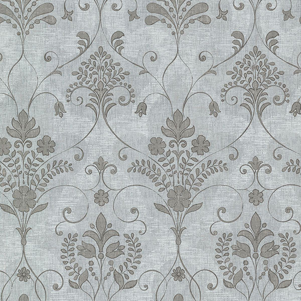 Andalusia Blue Damask Wallpaper