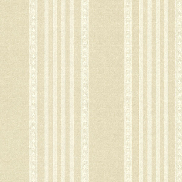 Adria Cream Jacquard Stripe Wallpaper