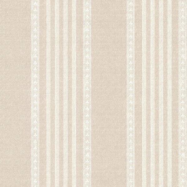 Adria Linen Jacquard Stripe Wallpaper